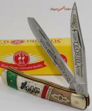 Kissing Crane Tequila Limited Edition 2 Blade Bone Trapper Folding Pocket Knife