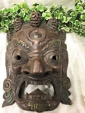 A Very Impressive Large Wooden Carved Balinese Mask