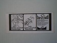 advertising Pubblicità 1974 OCCHIALI BARUFFALDI