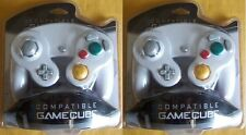 2 LOT NEW White Controller for Nintendo Gamecube System Console Wii Control Pad