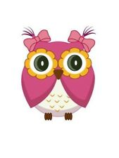 Baby Pink Owl Wall Sticker Decal - Easy Remove / Reuse