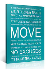 Stretched Canvas Print - MOVE Large Motivational Wall Art e7255
