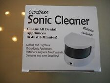 Ultrasonic Ultra Sonic Cleaner Bath Cordless Jewellery Ring Dentures Retainers