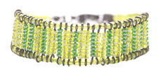 Lime & Leaf Green Beads Ladder /adjustable Clasp Hand Bracelet(Zx201)