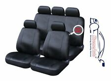 9 PCE Full Set of Black Leather Look Seat Covers for Ford Fiesta Focus Mondeo KA