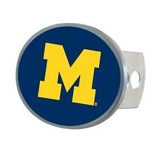 Michigan Wolverines Trailer Hitch Receiver Cover Metal Oval Class II & III