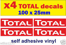 R x4 Total oil rally race bike classic decals car van bus truck mini sticker oil