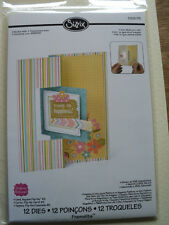 SIZZIX FRAMELITS STEPHANIE BARNARD CARD SQUARE FLIP-IT'S #2 12 DIES BNIP