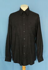 PAL ZILERI Italy Made Cotton Rayon Silk Blends Plaid Button front Men's Shirt L