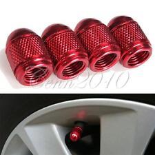 4x Alluminio Proiettile Stile Tire Valvola Ruota Stelo Berretto Copertina ROSSO