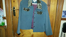 LADIES  VINTAGE  RETRO ? HUSEN MODA JACKET WITH FAUX FUR COLLAR/POCKETS SIZE 14