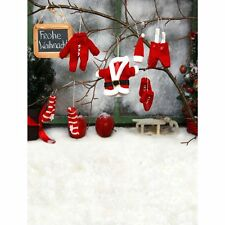 5x7FT Christmas Clothes Backdrop Studio Vinyl Photography Photo Props Background