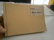 Catalogue piéce détachées pour tracteur Fiat série 400 année 1966