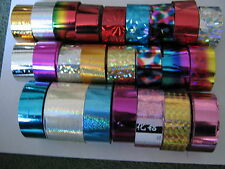 20 x 30cm MULTI COLOUR DESIGN FOIL WRAP - NAIL ART   - 1-  (tips,, gel, acrylic)