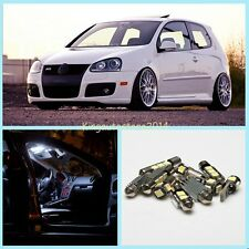 11x  Super White ERROR FREE Car Interior LED Light Package Kit For VW Golf V MK5