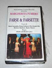 Vhs MARGHERITA FUMERO Farse & Farsette Pier Giorgio Gili NUOVO Teatro Torino