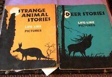 BOOKS Lot Of 2-STRANGE ANIMAL And DEER STORIES 1936 - Ortho scope Glasses