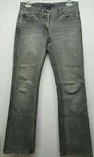 French Connection FCUK gray distressed denim boot cut jeans womens SZ 4 W25 L32