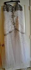 Wedding Dress Plus, Strapless,  White, X-Large (14-16)