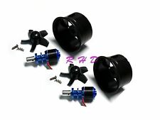 2Pack 64mm Duct Fan 4500KV RC Brushless Outrunner Motor for EDF RC Jet Aircraft