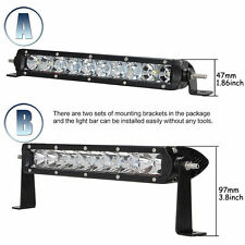 """11"""" inch 50W CREE LED Spot Flood Combo Driving Work Light Bar SUV Offroad UTE"""