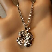 new sterling silver four leaf clover pendant & chain
