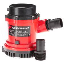 """JOHNSON PUMP 1600 GPH BILGE  PUMP 1-1/8"""" HOSE 12V"""