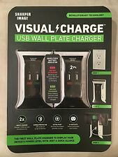 Sharper Image Visual Charge USB Wall Plate Charger 2 pk - Charge Phones, Tablets
