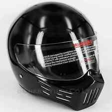 FRP Motorcycle Racing Full Face Helmet Super Bandit Style Gloss Black DOT Small