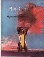 Publicité Advertising 1950 parfum MAGIE de LANCOME  paris