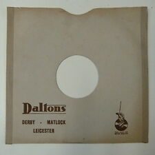"record sleeve for 78rpm 10"" gramophone disc : DALTONS , DERBY MATLOCK LEICESTER"