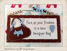 DESIGNER HANDBAG BAG PLAQUE Scottie Purse (Item is not endorsed by Radley ) Gift