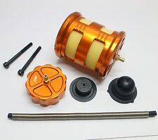 RCSQUARE Alloy Air Filter kit with gas cap for HPI KM Roven Baja 5B 5T SS Orange