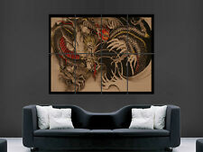 CHINESE DRAGON FIRE TATOO ART WALL LARGE IMAGE GIANT POSTER