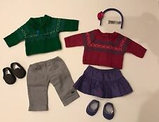 American Girl Bitty Baby Bitty Twins Fair Isle Play Set Outfits