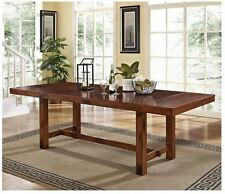 Rustic Dining Table Farmhouse Kitchen Furniture Breakfast Nook Trestle Leg Wood