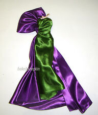Barbie Fashion Green/Purple Gown For Barbie Doll fn097