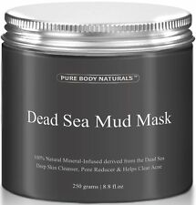 BEST Dead Sea Mud Mask,250g/ 8.8 fl.oz.- Facial Treatment by Pure Body Naturals