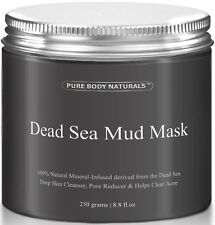 Pure Body Naturals Beauty Dead Sea Mud Mask for Facial Treatment, 250g / 8.8 fl.