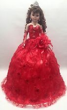 NEW Red 28 inch My 15 Mis XV Anos Quinceanera Porcelain Party Umbrella Last Doll