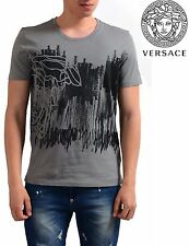 NWT $295 VERSACE COLLECTION HALF MEDUSA GRAPHIC GREY T-SHIRT. SIZE M