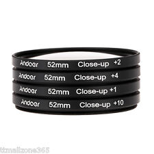 52mm Macro Filtro Close-up Set+1+2+4+10 con Sacchetto perNikon Canon Sony Pentax