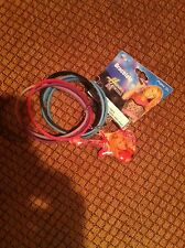 HANNAH MONTANA 6 RUBBER BRACELETS WITH GUITAR CHARM  BRAND NEW