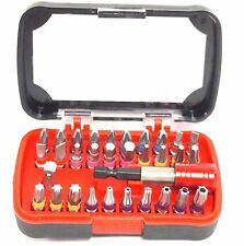 33pc S2 Power Tool Bit Set Color Coded with Case Clip