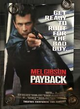 PAYBACK ADVANCE ORIGINAL U.S. 1 SHEET DOUBLE SIDED MOVIE POSTER GIBSON