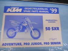 1999 KTM 50 SXR Chassis Spare Parts Manual 320464