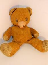 "VINTAGE ANTIQUE TEDDY BEAR PLUSH WITH RUBBER NOSE 16"" TALL"
