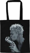 BILLY IDOL BLACK COTTON TOTE SHOPPER BAG SKULL HAMLET PUNK ROCK GENERATION X