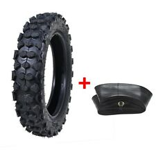 """3.00 - 10 80/100 - 10"""" inch Rear Knobby Tyre Tire + Tube PIT PRO Trail Dirt Bike"""
