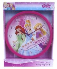 "OFFICIAL NEW 10"" DISNEY PRINCESS WALL CLOCK CHILDRENS CLOCK BEDROOM CLOCK"